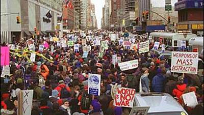 2003 Antiwar March, Manhattan