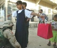 US maggots frisking school children in Iraq