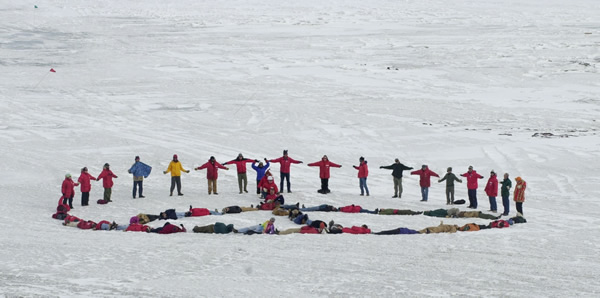 antarctic peace protest