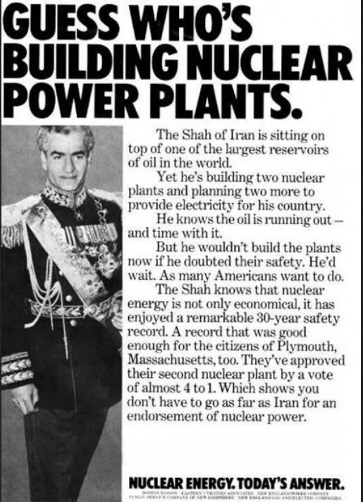 Shah of Iran built nuclear plants