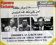 Leaflets displaying the wanted 'men' have been distributed